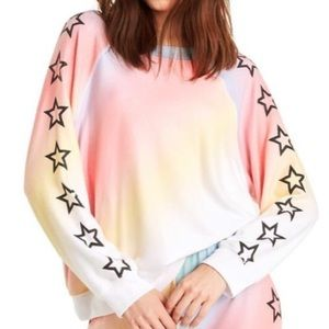 Wildfox | Nebula Sommers Sweater Rainbow & Stars